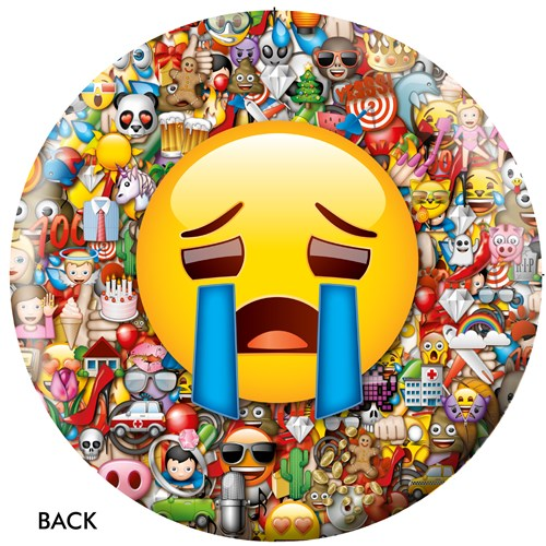 OnTheBallBowling Emoji Laugh-Cry Back Image