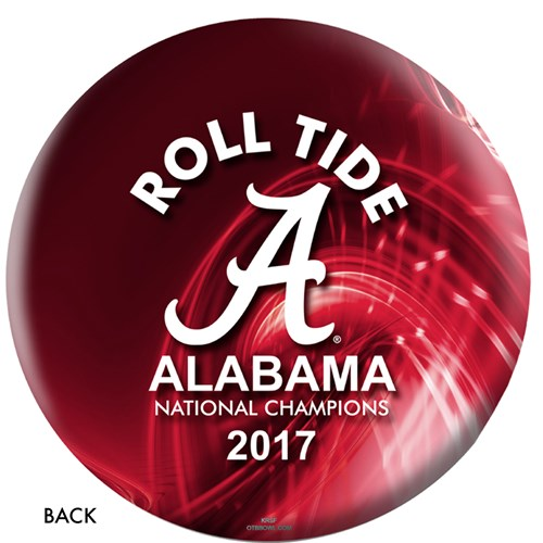 OnTheBallBowling 2017 NCAA National Champions Alabama Ball Back Image