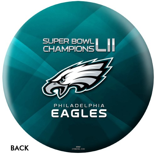 OnTheBallBowling 2018 Super Bowl 52 Champions Philadelphia Eagles Back Image