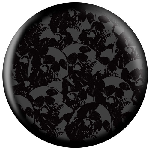 OnTheBallBowling Skull Iron Cross Back Image