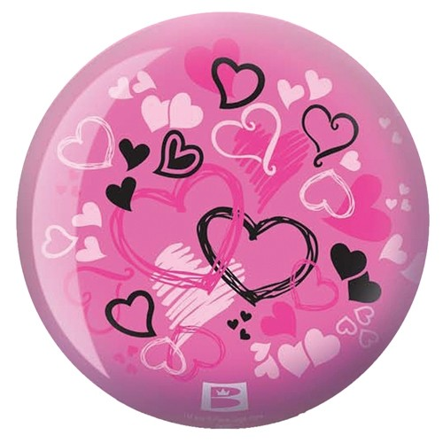 Brunswick Hearts Glow Pink Viz-a-Ball Back Image