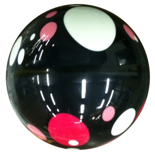 Exclusive Black with Pink/White Dots Viz-A-Ball Back Image