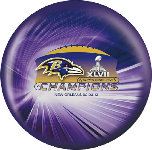 OnTheBallBowling Baltimore Ravens Superbowl Back Image