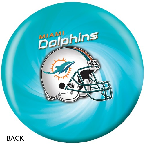 KR Miami Dolphins NFL Ball Back Image