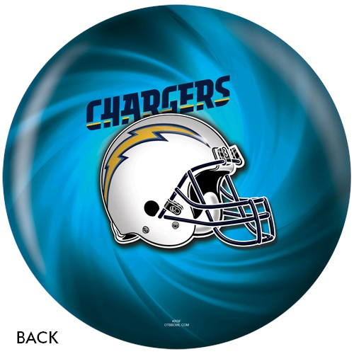KR San Diego Chargers NFL Ball Back Image