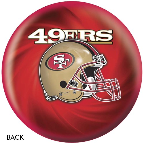KR Strikeforce San Francisco 49ers NFL Ball Back Image