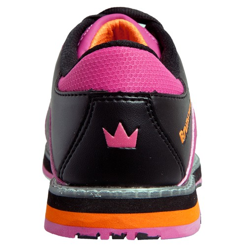 Brunswick Womens Raven Black/Pink/Orange Back Image