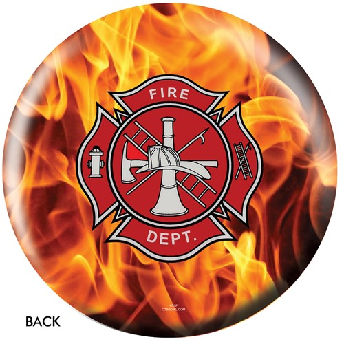 OnTheBallBowling Fire Dept Yellow Fire Back Image
