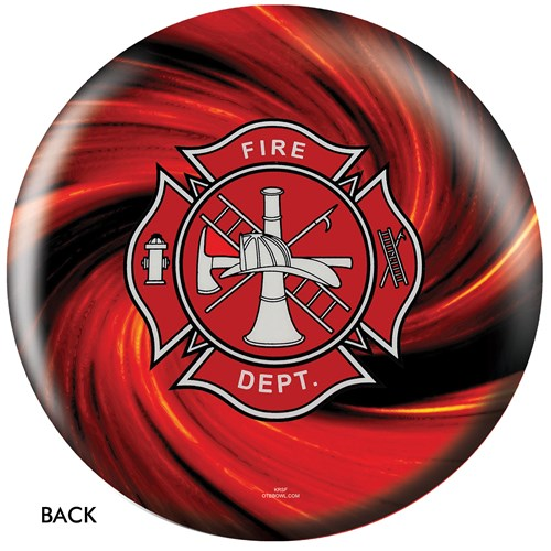 OnTheBallBowling Fire Dept Red Back Image