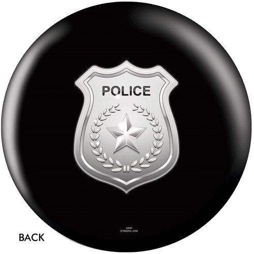OnTheBallBowling Police Dept Shield Black Back Image