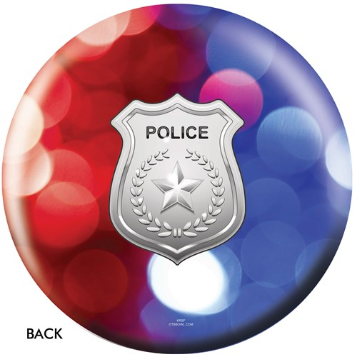OnTheBallBowling Police Dept Red-Blue Lights Back Image