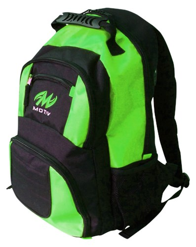 Motiv Zipline Backpack Black/Green Back Image