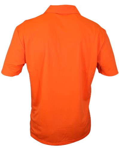Motiv Mens Hypershock Polo Orange Back Image