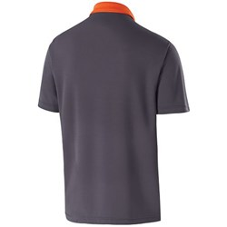 Holloway Mens Division Polo Orange/Carbon Back Image