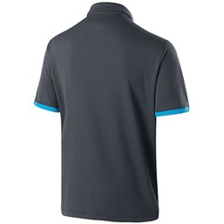 Holloway Mens Charge Polo Carbon/Bright Blue Back Image