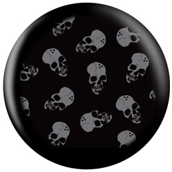 OnTheBallBowling Skull Shield Back Image