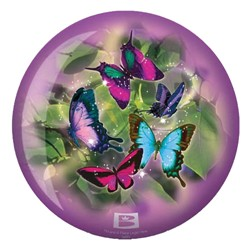 Brunswick Butterflies Glow Viz-a-Ball Back Image