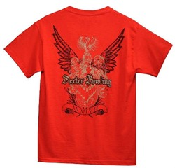 Dexter Coat of Arms Red T-Shirt Back Image