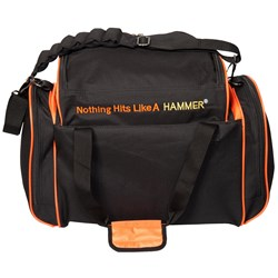 Hammer Deluxe Double Tote Black/Orange Back Image