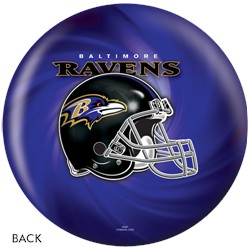 KR Strikeforce Baltimore Ravens NFL Ball Back Image