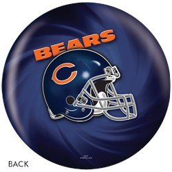 KR Chicago Bears NFL Ball Back Image