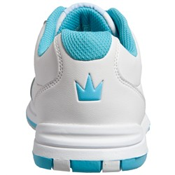 Brunswick Womens Satin White/Aqua Back Image