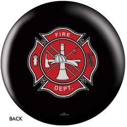 OnTheBallBowling Fire Dept Shield Black Back Image