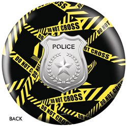 OnTheBallBowling Police Dept Yellow Tape Back Image