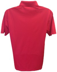 Motiv Mens Zenith Polo Red/White Back Image