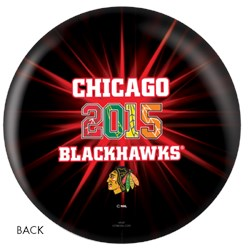 OnTheBallBowling NHL 2015 Stanley Cup Champion Chicago Blackhawks Back Image