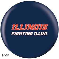 OnTheBallBowling University of Illinois Fighting Illini Back Image