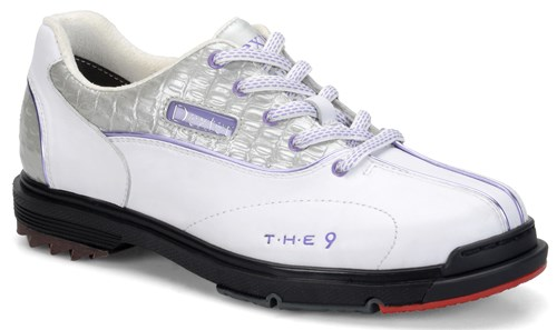 Dexter Womens THE 9 White/Silver Crocodile WIDE WIDTH Main Image