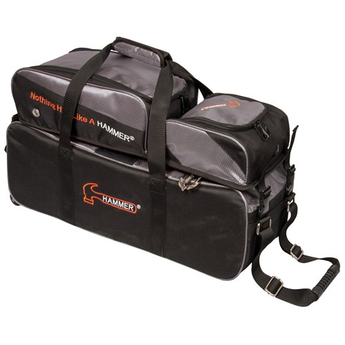 Hammer Premium Deluxe Triple Tote w/Removable Pouch Black/Carbon Main Image