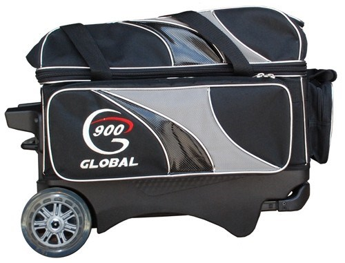 900Global Deluxe 2 Ball Roller Black/Silver Main Image