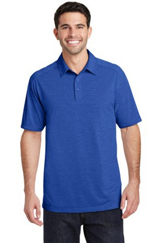Port Authority Mens Digi Heather Performance Polo True Royal Main Image