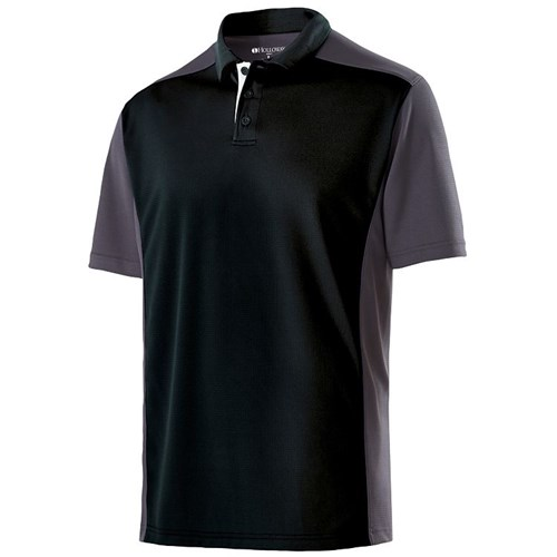 Holloway Mens Division Polo Black/Carbon Main Image