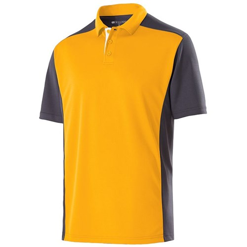 Holloway Mens Division Polo Gold/Carbon Main Image