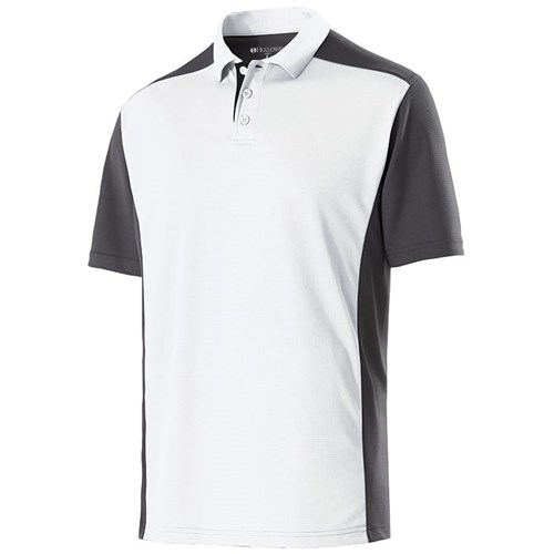 Holloway Mens Division Polo White/Carbon Main Image