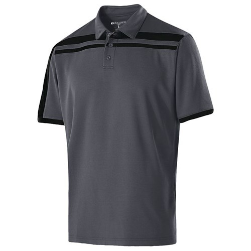 Holloway Mens Charge Polo Carbon/Black Main Image