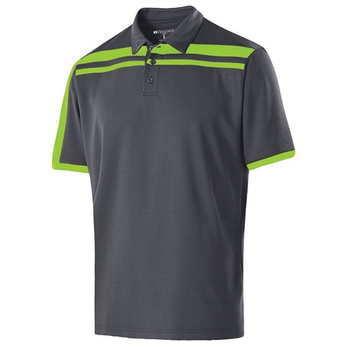 Holloway Mens Charge Polo Carbon/Lime Main Image
