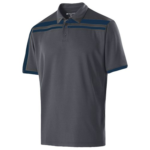 Holloway Mens Charge Polo Carbon/Navy Main Image