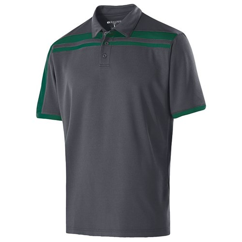 Holloway Mens Charge Polo Carbon/Forest Main Image