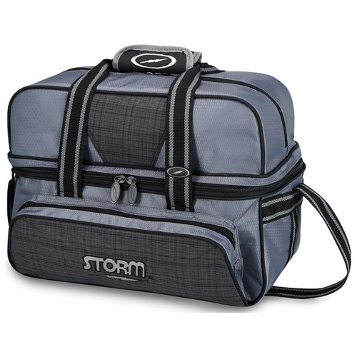 Storm 2 Ball Deluxe Tote Charcoal Plaid/Grey/Black Main Image