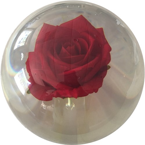 KR Strikeforce Clear Red Rose Ball Main Image