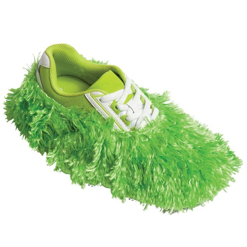 Robbys Fuzzy Shoe Cover Lime Main Image
