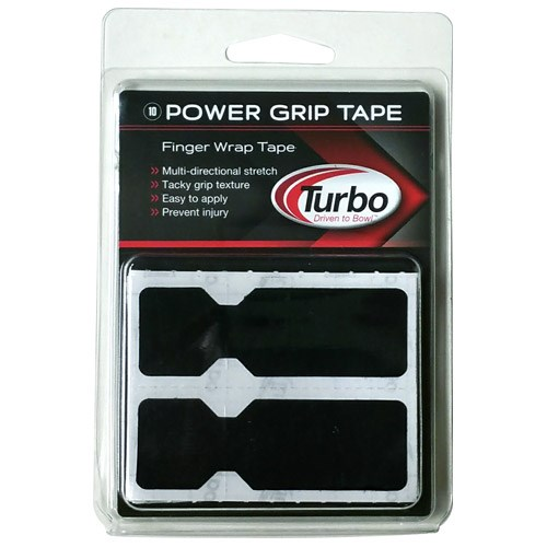 Turbo Power Tape Pre Cut Finger Tape Black 30/Pkg Main Image