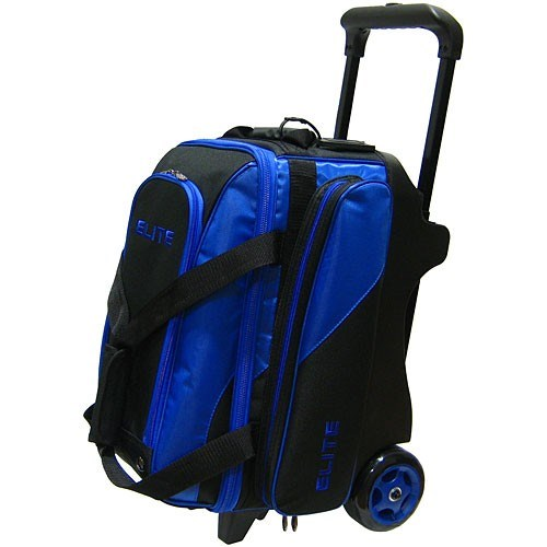Elite Deluxe Double Roller Black Blue Bowling Bag Main Image