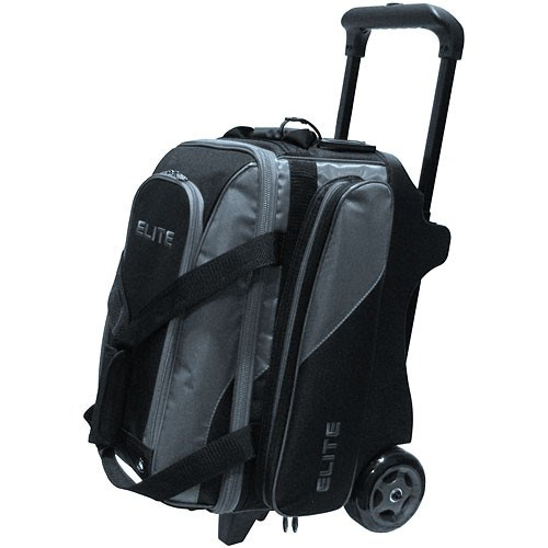 Elite Deluxe Double Roller Black Grey Bowling Bag Main Image