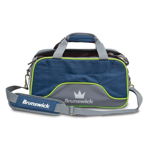 Brunswick Crown Deluxe Double Tote Navy/Lime Main Image