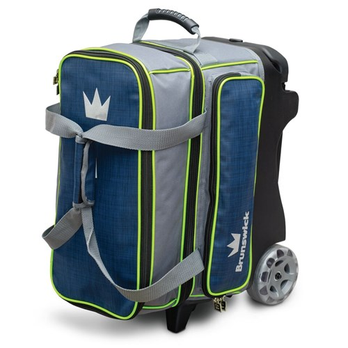 Brunswick Crown Deluxe Double Roller Navy/Lime Main Image
